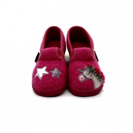 Chaussons Fille en Laine Giesswein Trabening