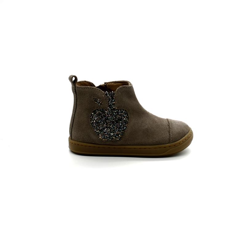 Boots Bébé Fille Shoo Pom Bouba Apple Velours