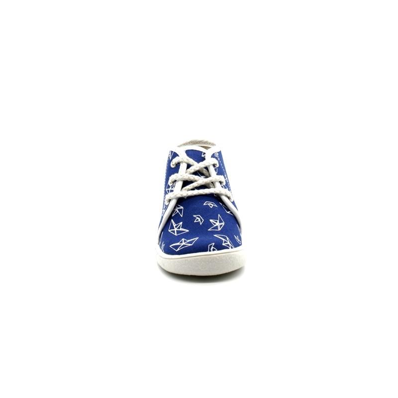 a8491c7af02f2 Chaussons Bébé Lacets Garçon Babybotte Milan - PitShoes