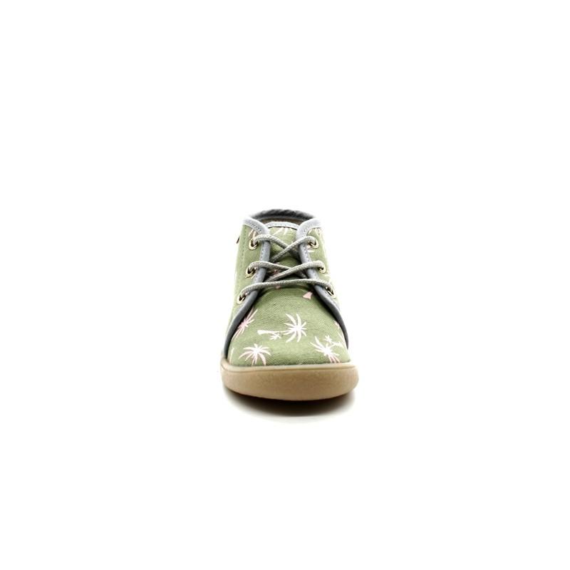 7c46bb5300b02 Chaussons Bébé Fille Lacets Babybotte Milan - PitShoes