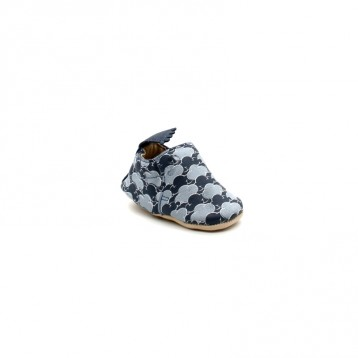 Chaussons Bébé Cuir Easy Peasy Blumoo Cloud