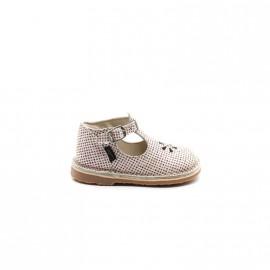 Chaussures Découpées Bébé Fille Aster Bimbo Rose Imprimé