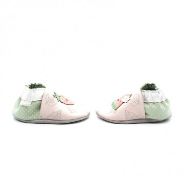 Chaussons Cuir Souple Fille Robeez Fruit's Party