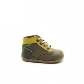 Chaussures Montantes Bébé Garçon Kickers Bonbon Tricolore
