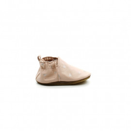 Chaussons Cuir Souple Robeez Fille Sweet Hearts